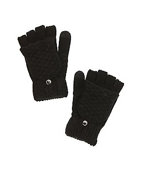 Textured Knit Tech Mittens
