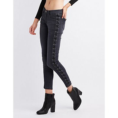 Machine Jeans Lace-Up Detail Skinny Jeans