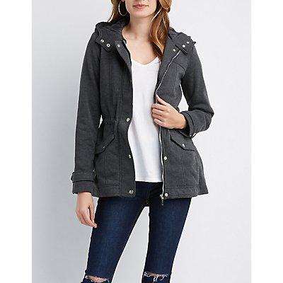 Hooded Fleece Lined Jacket