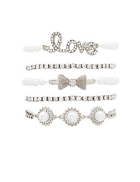 Love Layering Bracelets - 5 Pack