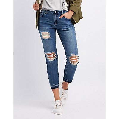 Refuge Destroyed Straight Leg Jeans