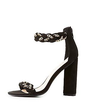 Qupid Braided Two-Piece Sandals