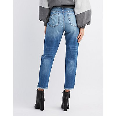 Cello Destroyed Girlfriend Jeans