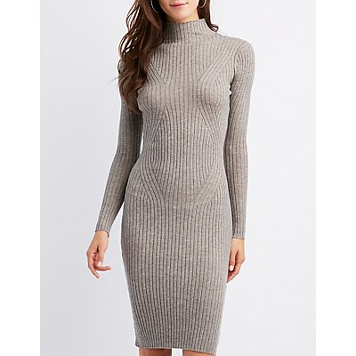 Ribbed Knit Bodycon Sweater Dress