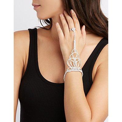 Rhinestone Embellished Hand Chain