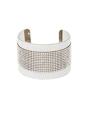Embellished Rhinestone Cuff Bracelet