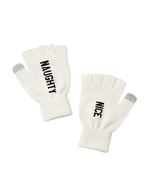 Naughty & Nice Fingerless Gloves
