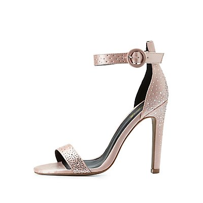 Qupid Embellished Two-Piece Sandals