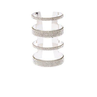 Mega Crystal Stone  Cuff Bracelet