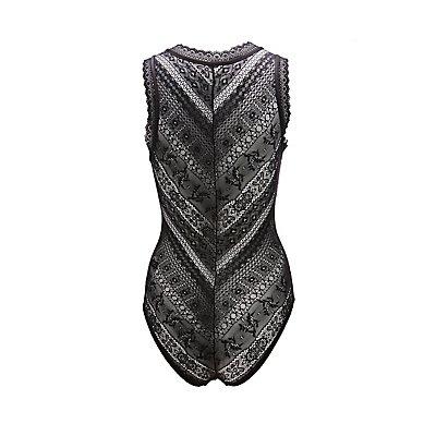 Sheer Lace V-Neck Bodysuit