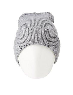 Eyelash Ribbed Knit Beanie
