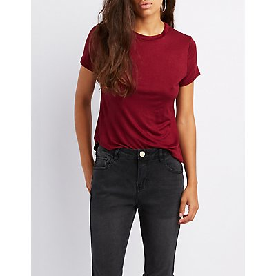 Knotted Open-Back Tee