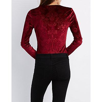 Velvet Floral Bodysuit