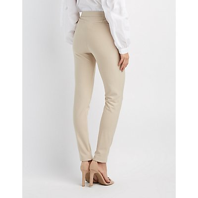 Ruffle Accented Skinny Trousers