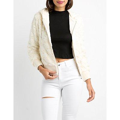 Hooded Faux Fur Coat