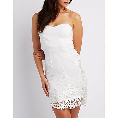 Sweetheart Crochet Bodycon Dress