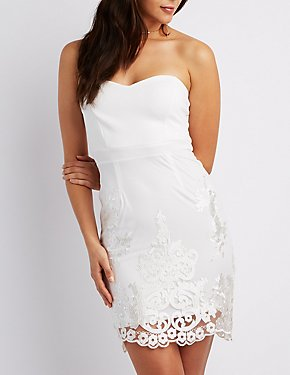 Sweetheart Crochet Bodycon Dress