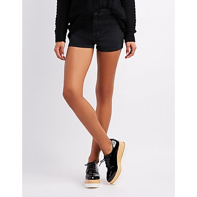 Refuge High-Waist Shortie Denim Shorts