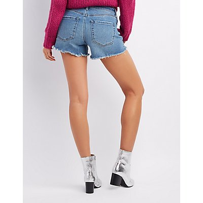 Refuge Destroyed Girlfriend Denim Shorts