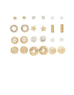 12 Days of Sparkle Stud Earrings - 12 Pack