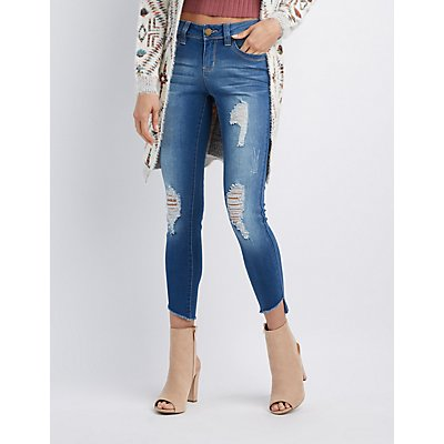 Destroyed Push-Up Skinny Jeans
