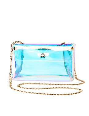 Holographic Triangle Crossbody Bag