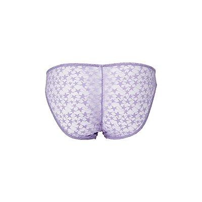 Star Mesh-Back Cheeky Panties