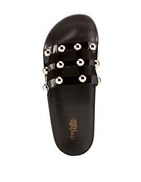 Caged Stud Slide Sandals