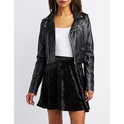 Velvet Skater Skirt