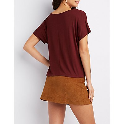 Cut-Out Boyfriend Tee
