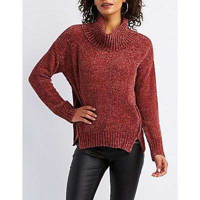 Chenille Turtle Neck Sweater