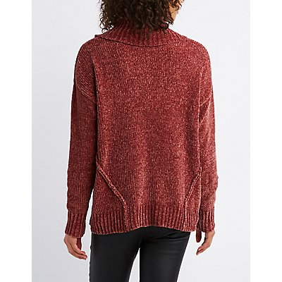 Chenille Turtle Neck Sweater