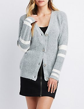 Varsity Striped Dolman Cardigan