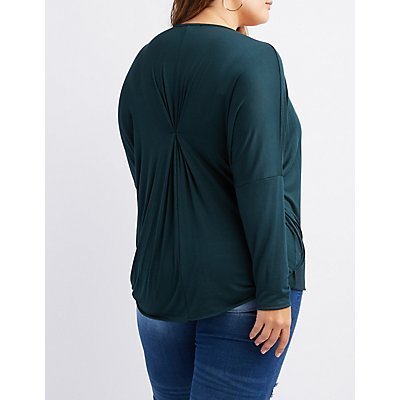 Plus Size Surplice Top