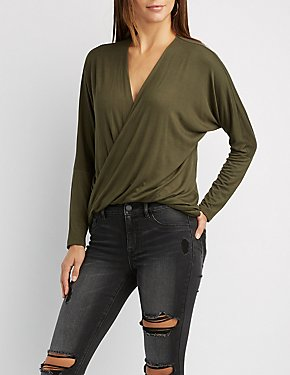 Surplice Dolman High-Low Top