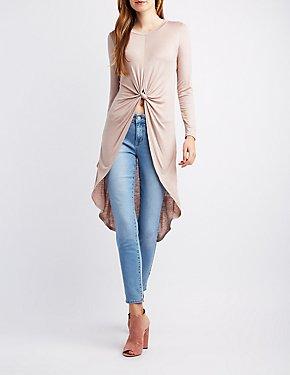 Long Sleeve High-Low Tunic
