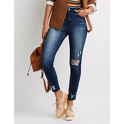 Refuge Destroyed Hi-Rise Skinny Jeans