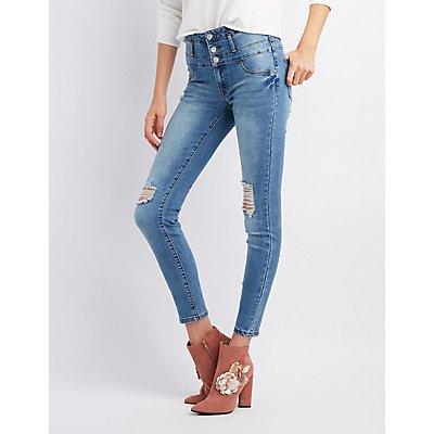 Refuge Destroyed Hi-Waist Skinny Jeans