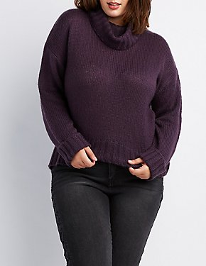 Plus Size Cowl Neck Sweater