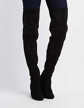 Square Toe Over-The-Knee Boots