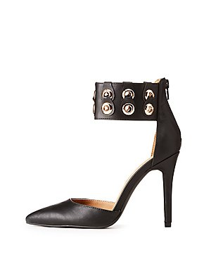Faux Leather Wide D'Orsay Pumps