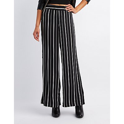 Striped Wide Palazzo Pants