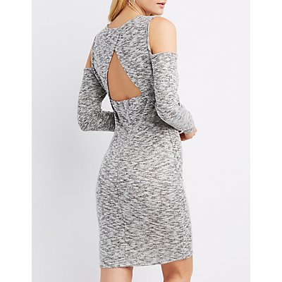 Cold Shoulder Sweater Dress