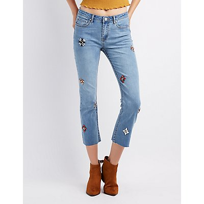 Refuge Embellished Straight Leg Jeans