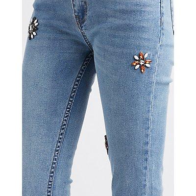 Refuge Embellished Straight Leg Jeans