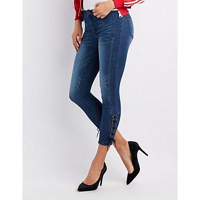 Refuge Lace-Up Detail Skinny Jeans