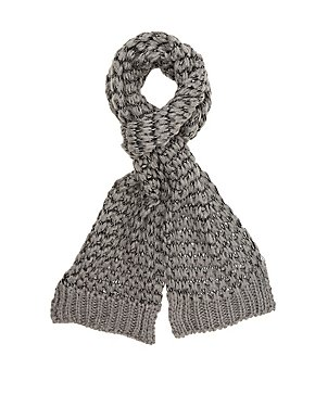 Contrast Open-Knit Wrap Scarf