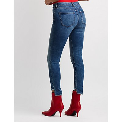Refuge O-Ring Step Hem Skinny Jeans