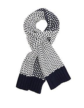 Contrast Knit Wrap Scarf