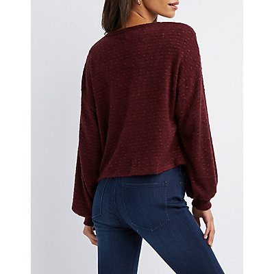 Strappy Caged Pullover Skimmer Top